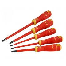 Bahco BAHCOFIT Insulated Scewdriver Set of 5 Slotted - Pozi
