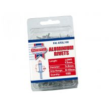 Faithfull Aluminium Rivets 3mm Long (Pack of 100)