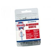 Faithfull Aluminium Rivets 3mm Medium (Pack of 100)