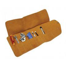 Faithfull FAILTR10 10 Pocket Leather Tool Roll