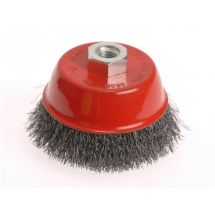 Faithfull Wire Cup Brush 75 x M14 x 2 Stainless Steel 0.30mm