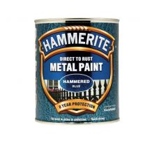 Hammerite 'Direct To Rust' Metal Paint - Hammered Blue 750ml