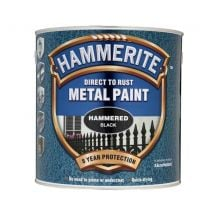 Hammerite 'Direct To Rust' Metal Paint - Hammered Black 2.5L
