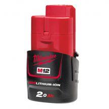 Milwaukee M12B2 12v 2.0Ah Li-Ion Battery (Single)