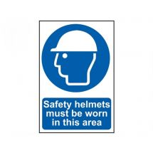 Scan Safety Helmets Must Be Worn In This Area - PVC (200 x 300mm)