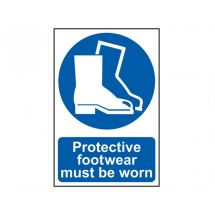 Scan Protective Footwear Must Be Worn - PVC (200 x 300mm)