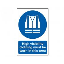 Scan High Visibility Jackets Must Be Worn In This Area - PVC (200 x 300mm)