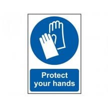 Scan Protect Your Hands - PVC (200 x 300mm)