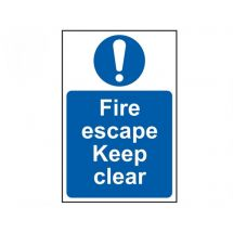 Scan Fire Escape Keep Clear - PVC (200 x 300mm)