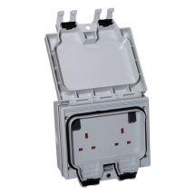 SMJ IP66 Twin 13 Amp Socket