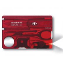 Victorinox Swiss Card Lite Red Translucent Blister Pack