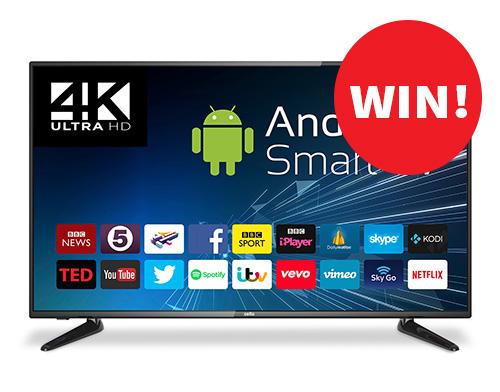 """Win a 50"""" 4K HD TV"""